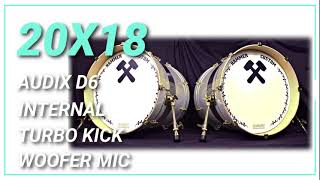 20x18 Hybrid Bass Drum HD Sound Sample