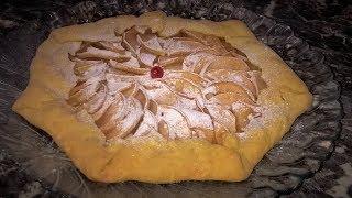 Галета с яблоками. Тонкое хрустящее песочное тесто с нежной сочной начинкой. Очень просто и вкусно!