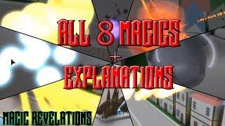TODOS OS 8 MAGICS BASE (TODOS OS MOVIMENTOS) EM REVELAÇÕES MÁGICAS + EXPLICAÇÕES (ROBLOX)