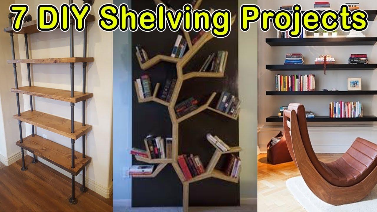 Do It Yourself Bookshelf Ideas: 7 Easy Shelf Making Ideas