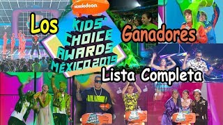 Ganadores  Kids'  Choice Awards Mexico 2019 Lista Completa
