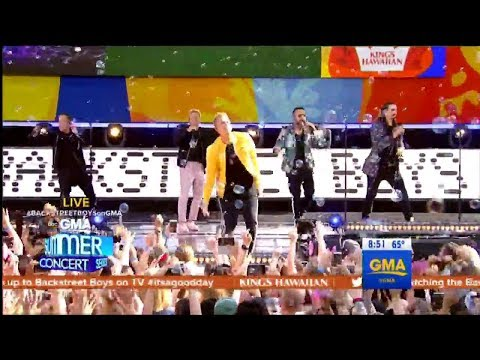 I Want It That Way - Backstreet Boys (Live on GMA)