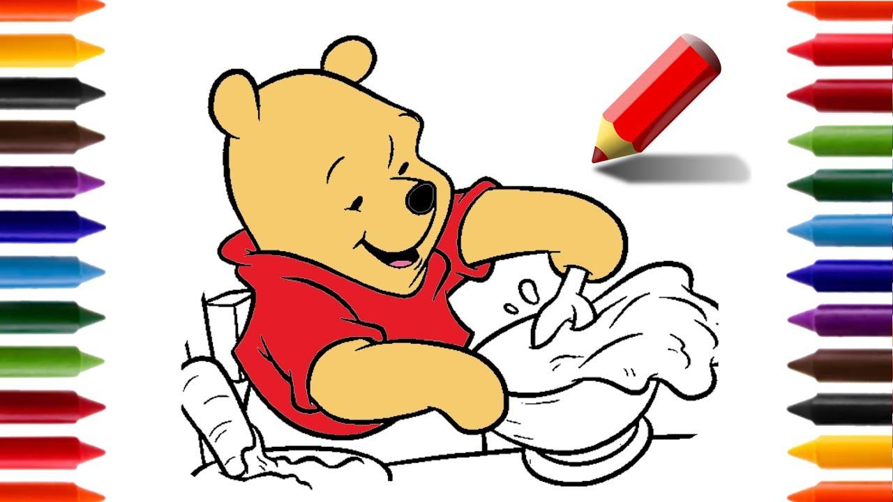 Ensinando A Desenhar E Pintar O Ursinho Pooh Animacoes E