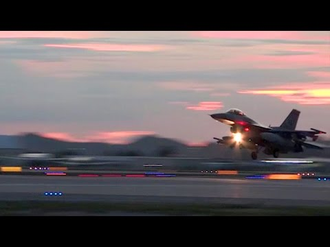F-16 Takeoff And Landing At Tucson International Airport