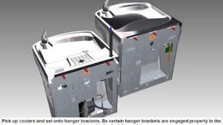 Water Bottle Refilling Station, Bi-Level W/Filter, Stainless