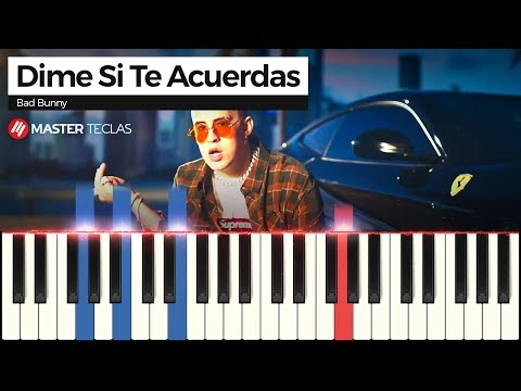 💎 Dime Si Te Acuerdas - Bad Bunny | Piano Tutorial 💎