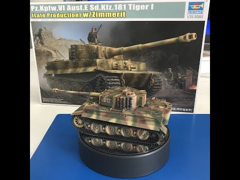 TRUMPETER # 09540 1/35 TIGER I (LATE PRODUCTION W/ZIMMERIT