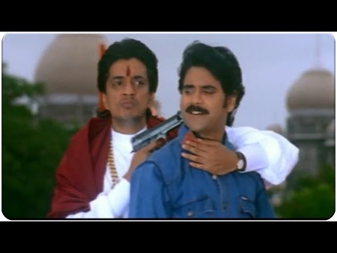 Action Scene Between Nagarjuna and Raghuvaran || Azad Movie || Nagarjuna, Soundarya, Shilpa Shetty