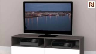 Nexera Allure - Entertainment & Home Office 60'' Tv Stand - 2 Open Shelves, 2 Drawers 220133