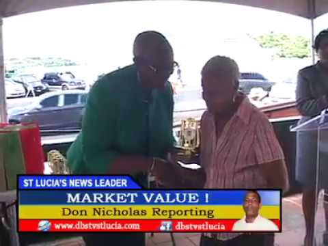Market Vendors Honoured Saint Lucia