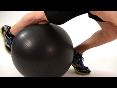 How to Do Knee Tucks on Exercise Ball | Ab Workout