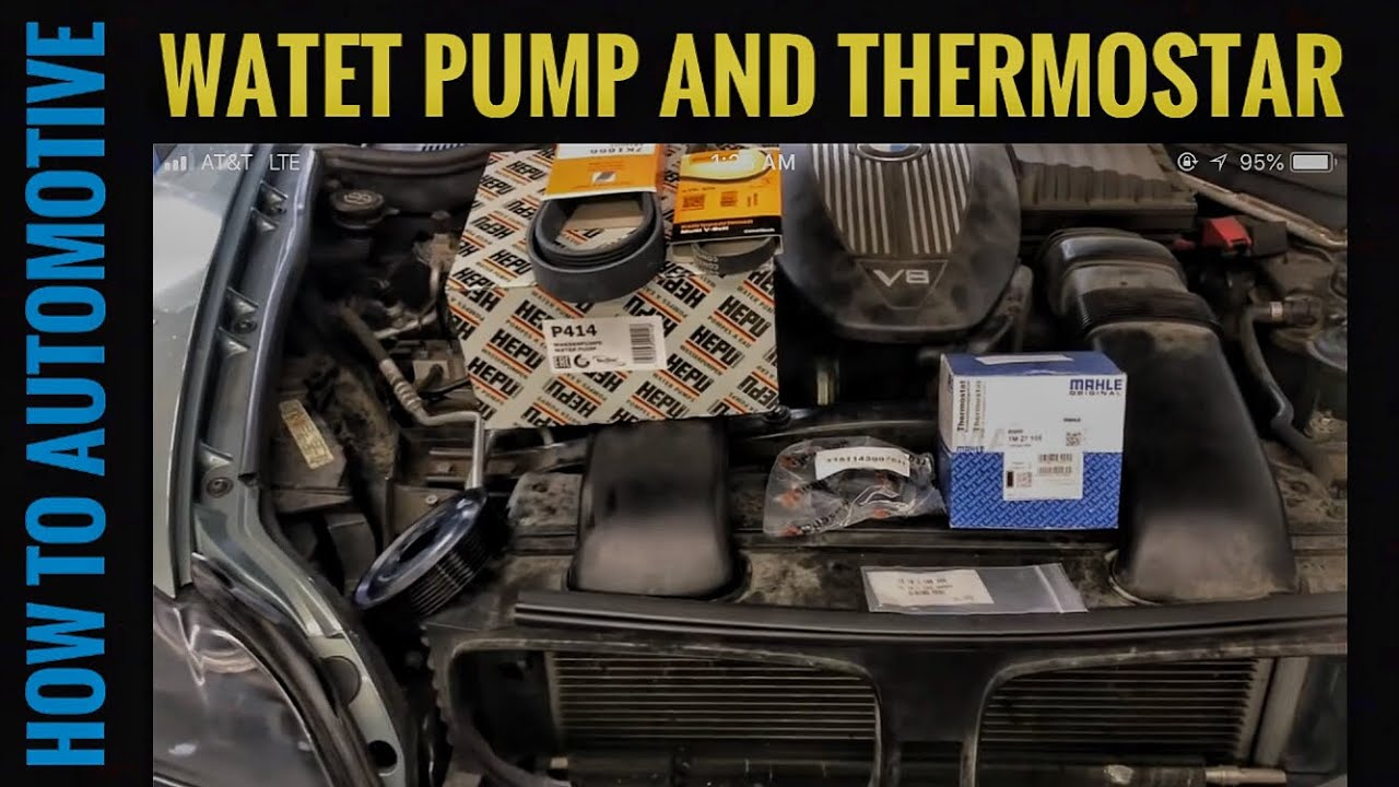 How to Replace the Water Pump and Thermostat on a 2006-2013 BMW X5 E70 with  4 8L Engine