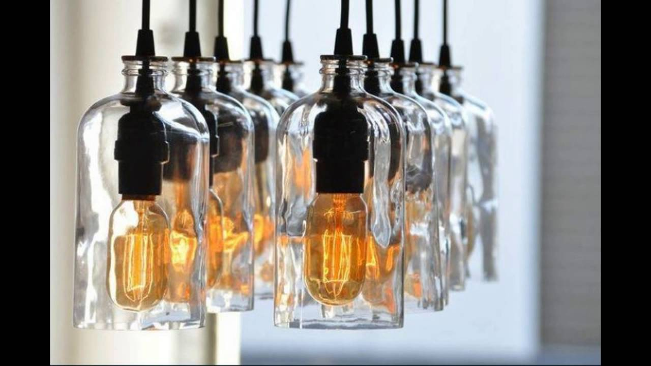 Repurposed bottle chandelier youtube repurposed bottle chandelier arubaitofo Images