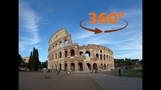 IMPROVED!! 360 / VR Video Tour (No Comments) from Inside & outside The Colosseum - Rome, Italy