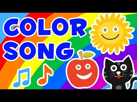 Color Song - Nursery Rhymes For Kids (Red, Yellow, Pink, Green