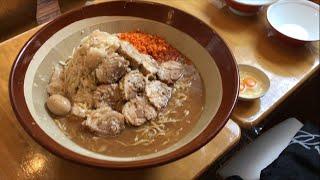 大食い→鷹の眼で味玉ラーメン麺増し茹で前1.7キロ+豚10枚くらい食べた。 thumbnail