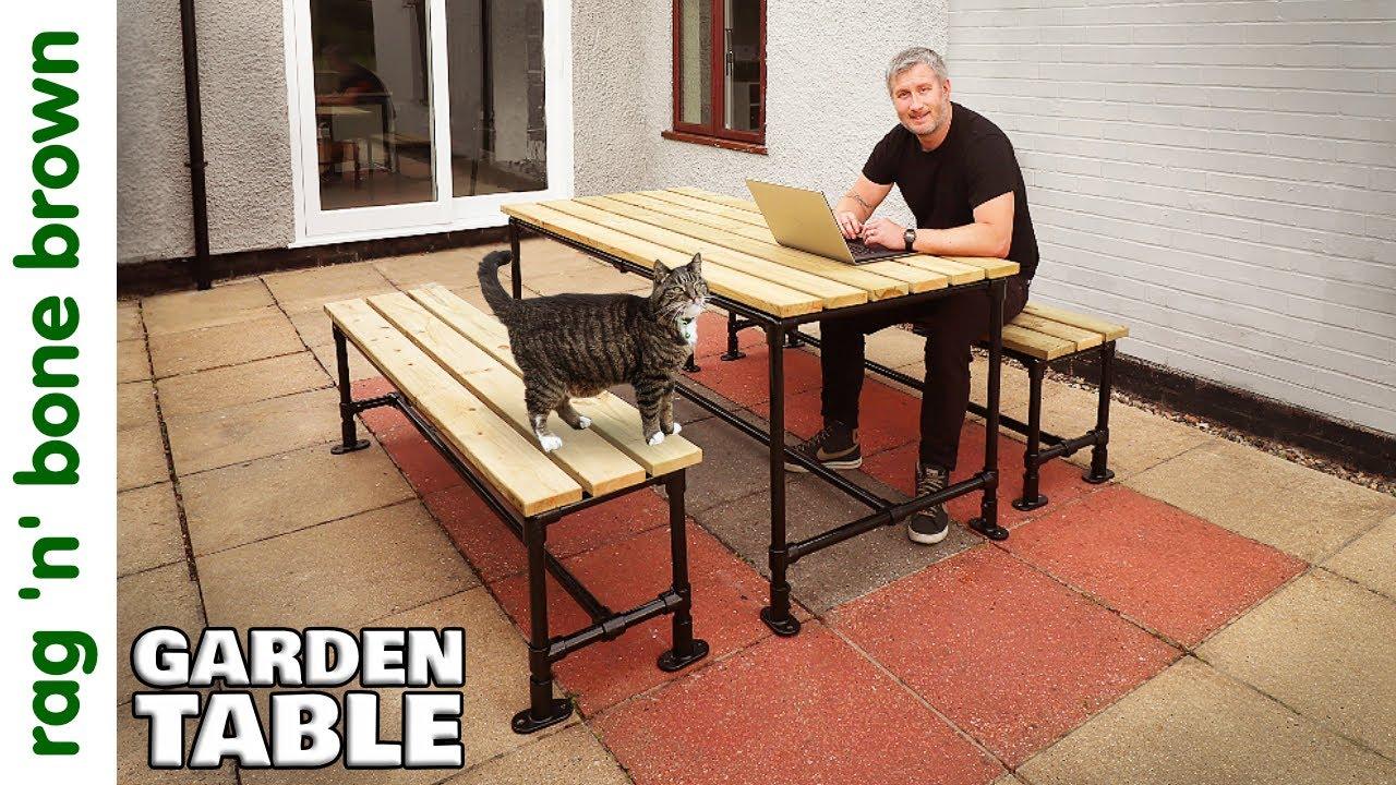 I Made A Garden Table & Benches