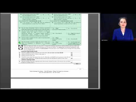 Basic Session 12 - Federal Tax Credits for Individuals - 2012 Tax Law