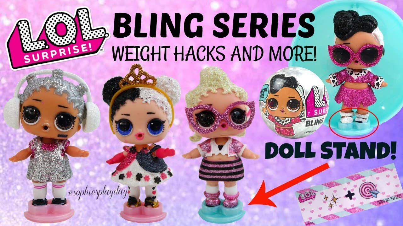 lol surprise bling series unboxing secret clues ball color and