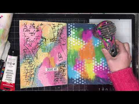 Quick art journal page: break out your old stamps