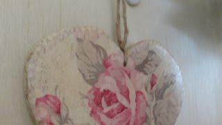 Make A Vintage Rose Heart Using Napkin Decoupage - Diy Home - Guidecentral