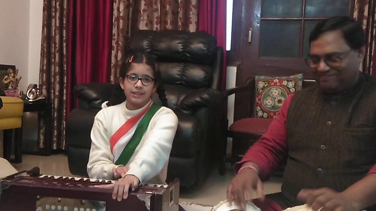 Download Jahan dal dal par sone ki chidiya - Patriotic song by Mannat Kohli, On Tabla: Shri Jitendra Nirala
