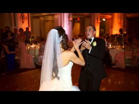 Angela & Chris Myers- The best wedding 'first dance' ever