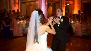 """Angela & Chris Myers- The best wedding """"first dance"""" ever"""