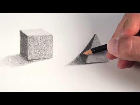Menggambar Bentuk Geometris Kubistis Silindris Youtube