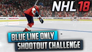 Can I Win a Shootout by Shooting Behind the Blue Line Only? (NHL 18 Challenge)