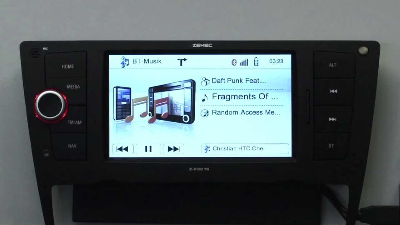 music streaming mit bluetooth auf dem zenec z e3215 f r. Black Bedroom Furniture Sets. Home Design Ideas