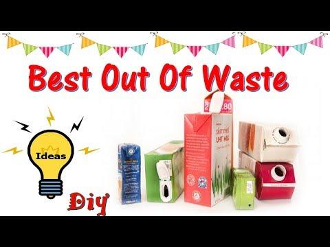 DIY| BEST OUT OF WASTE IDEAS | MILK CARTON/JUICE CARTON CRAFT IDEAS | GIFT BOXES | HOME DECOR IDEAS