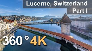 360°, Lucerne, Switzerland. Part I. 4К aerial video thumbnail