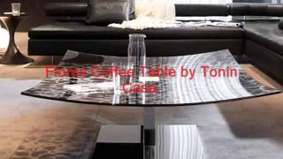 Unique Modern Contemporary Glass And Wooden Coffee Table And Tables.