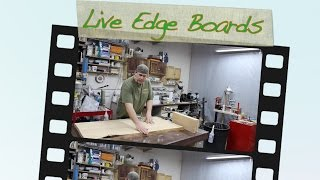 Tips For Working With Live Edge Boards & Stabilizing Defects In Woodworking