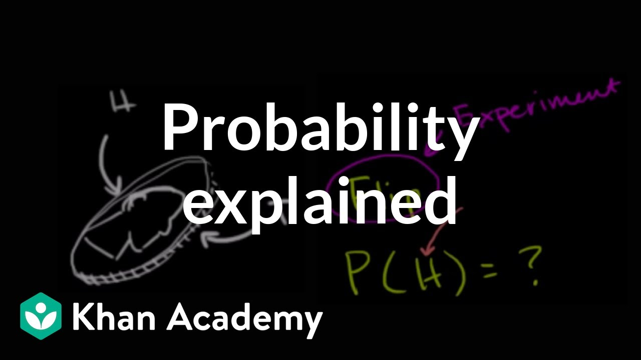 Khan Academy Theoretical Probability Statistics And Probability Video