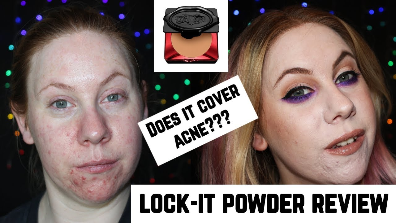 dfd2699384e52 Kat Von D Lock-It Powder Foundation Review on Dry Acne Skin - YouTube