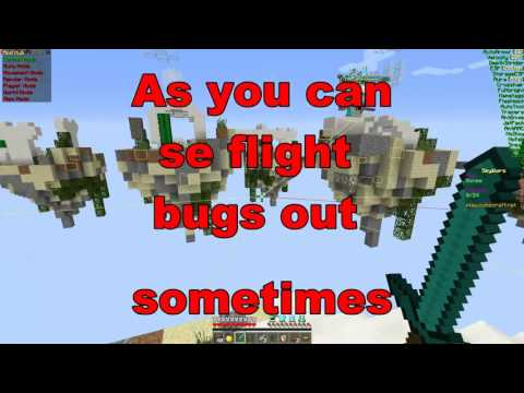 HACKING AND FLYING ON CUBECRAFT'S SKYWARS WITH XTURTLE!!!