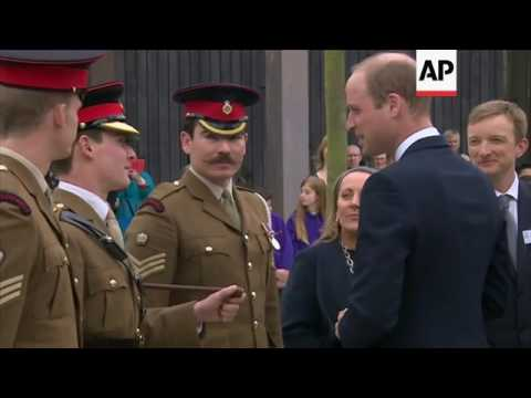 Prince William lays wreath for PC Keith Palmer
