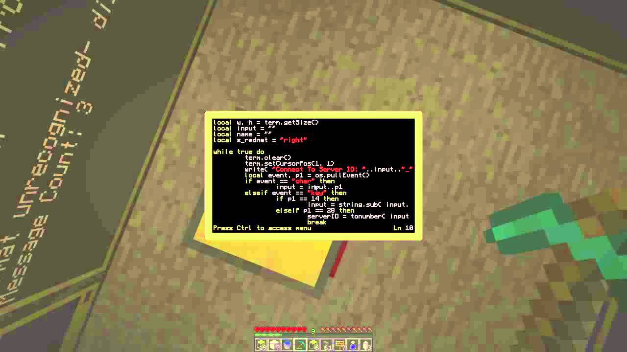 Computercraft Im Client With Server Youtube