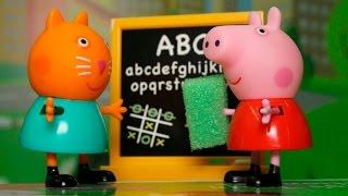 Видео про игрушки свинка Пеппа на русском языке.