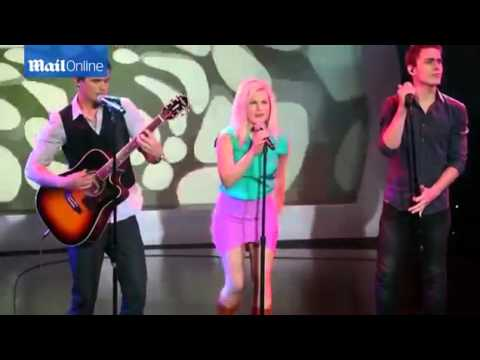 Nic Westaway, Bonnie Sveen and Alec Snow singing Rehearsal