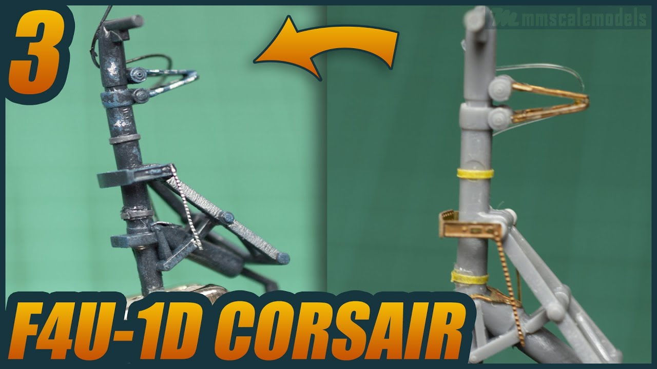 1/48 F4U-1D Corsair - ep 3 - Tamiya plastic scale model build