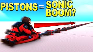 Can You Break The Sound Barrier With Just Pistons? - Trailmakers Gameplay