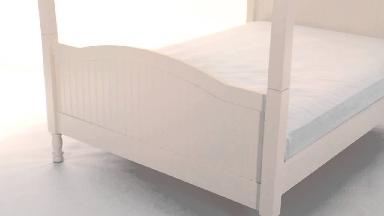 Opt for the Sturdy and Stylish Catalina Canopy Bed for Childu0027s Bedspace | Pottery Barn Kids - YouTube & Opt for the Sturdy and Stylish Catalina Canopy Bed for Childu0027s ...