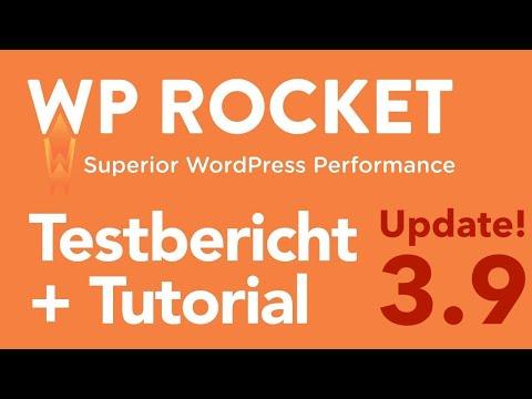 WP Rocket 3.9 Testbericht. Deutsches Tutorial des WordPress Caching Plugins! + Update 2021 + Review