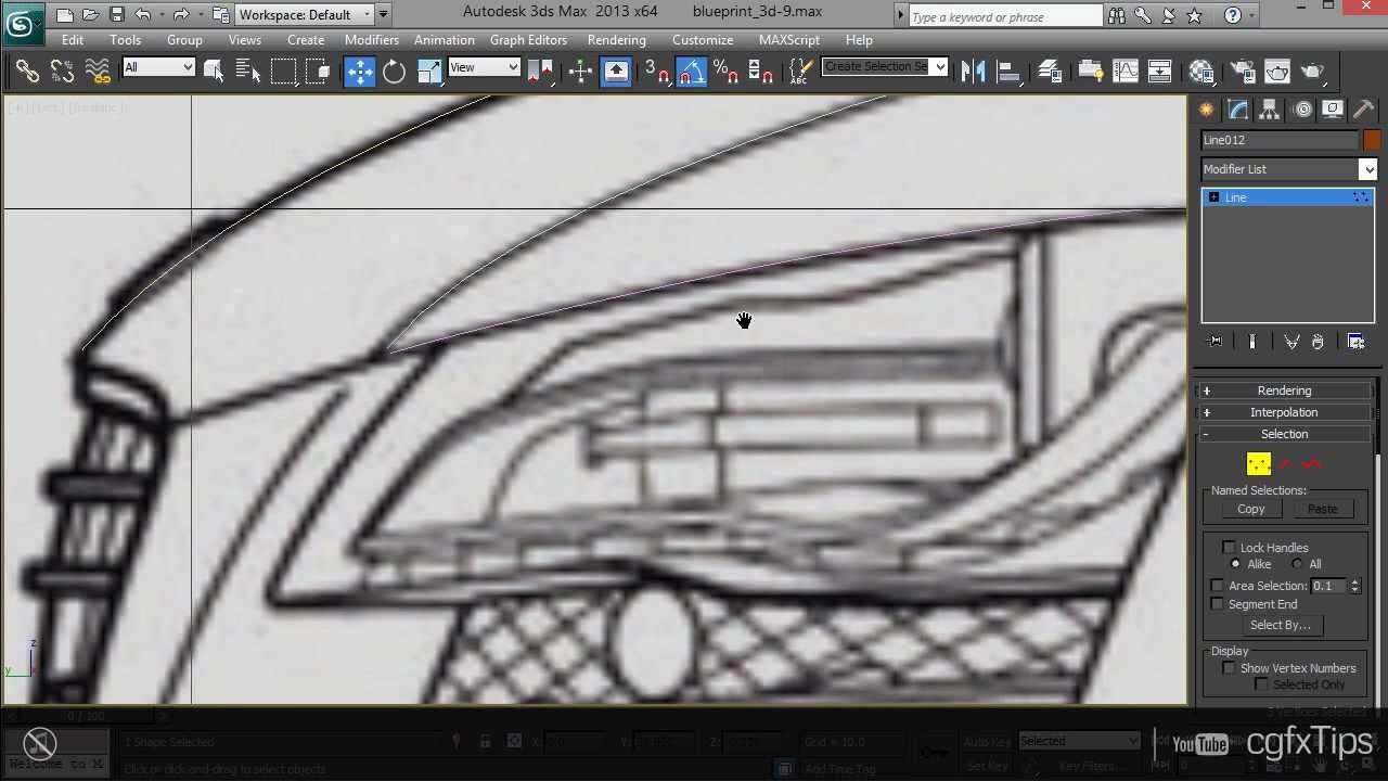 3ds Max Tutorial: Car Modelling   Audi R8 (3D Blueprint)   YouTube
