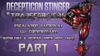Transformers: Rise of the Dark Spark Escalation Multiplayer Gameplay as Stinger - PART 1 of 2