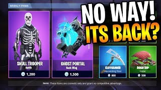 "FORTNITE SKULL TROOPER SKIN MAKES A RETURN!! ""Donner?? *"