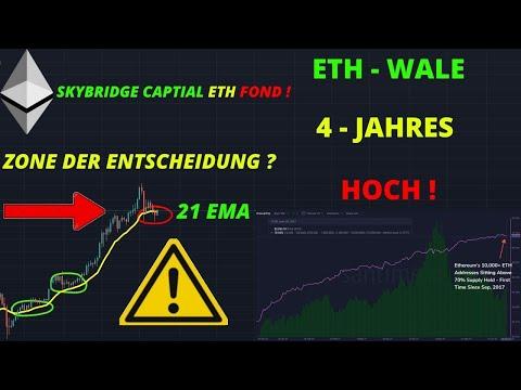 ETHEREUM WALE 4 JAHRES HOCH ! ETH 2.0 STAKING $40 MILLIARDEN INDUSTRIE ? ETH Chartanalyse / News